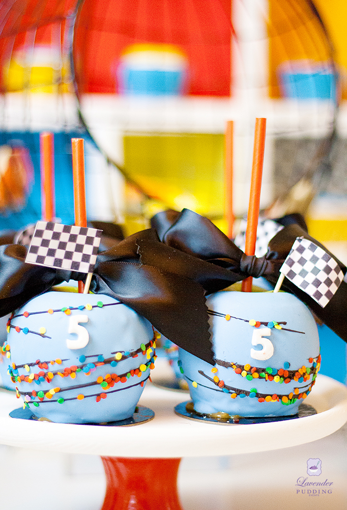 Hot Wheels Party - Candy Apples