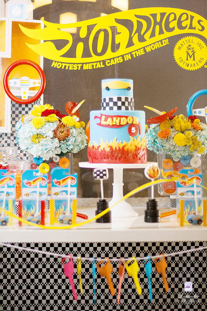 Hot Wheels Party Dessert Table