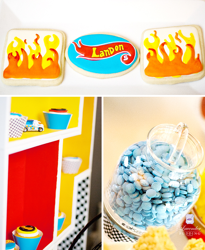 Hot Wheels Party cookies