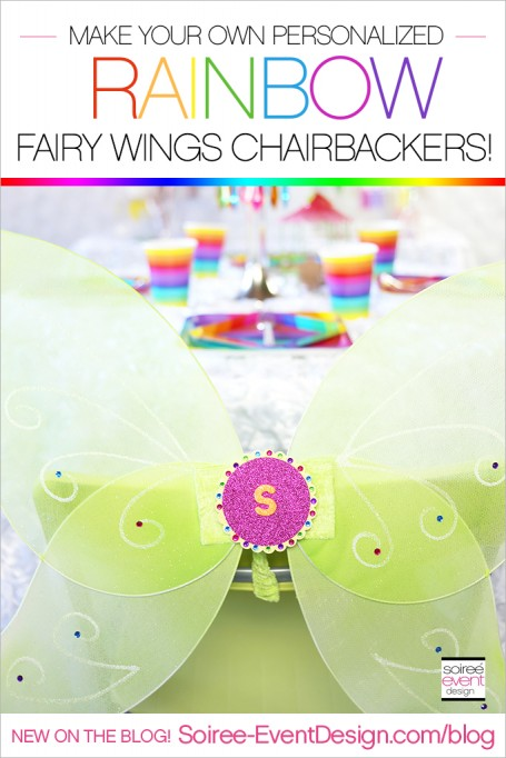 Rainbow Fairy Party Ideas – How to Make Fairy Wings Chairbackers!
