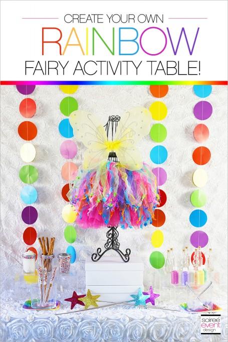 Rainbow Fairy Party Activities – Pixie Dust Bottle Craft & Fairy Dress Up Bar!