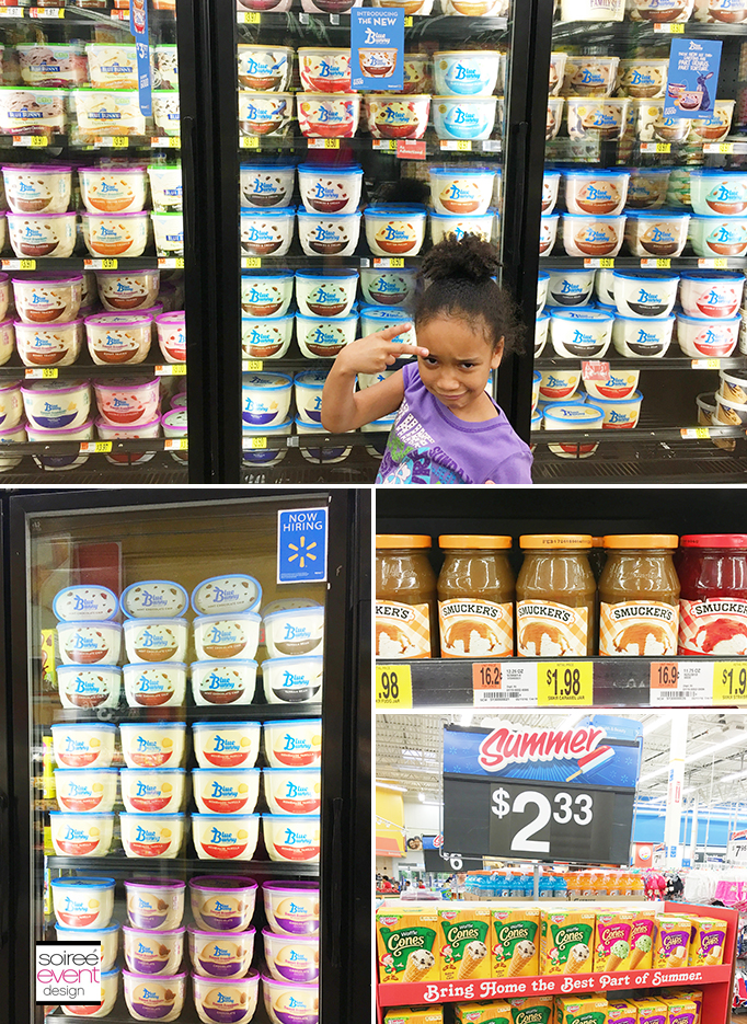 Blue Bunny Ice Cream in Walmart