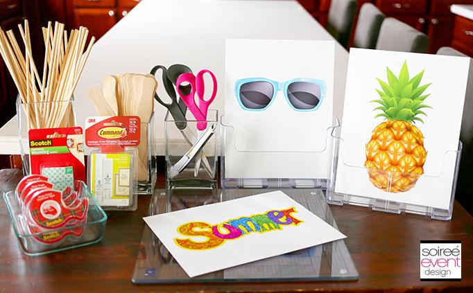 DIY Photo Booth Prop Supplies