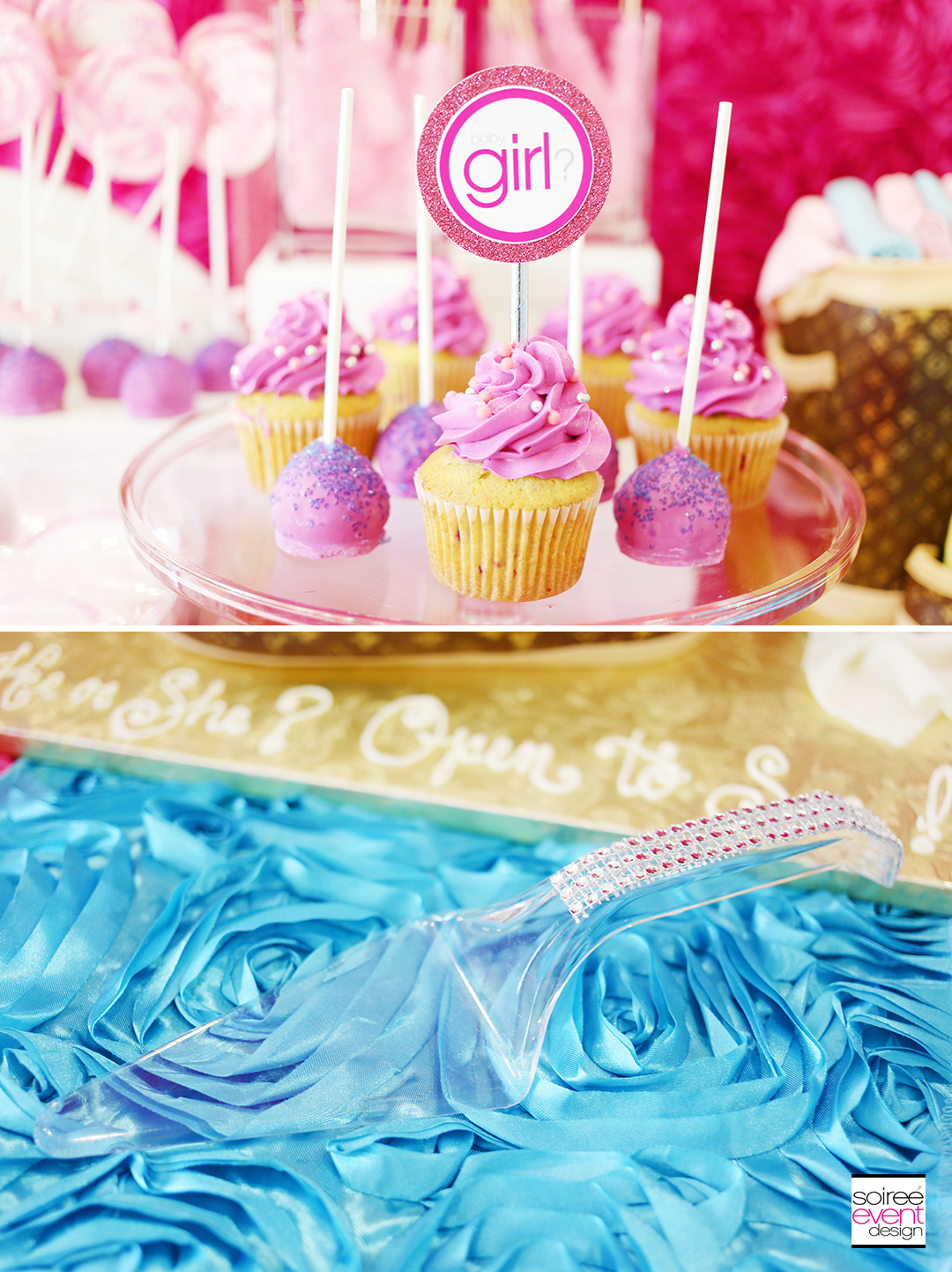 Gender Reveal Party - Bling Cake Cutter
