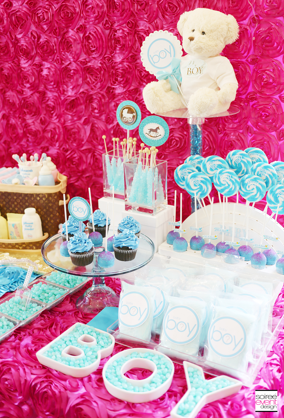 Gender Reveal Party Candy Table - Boy