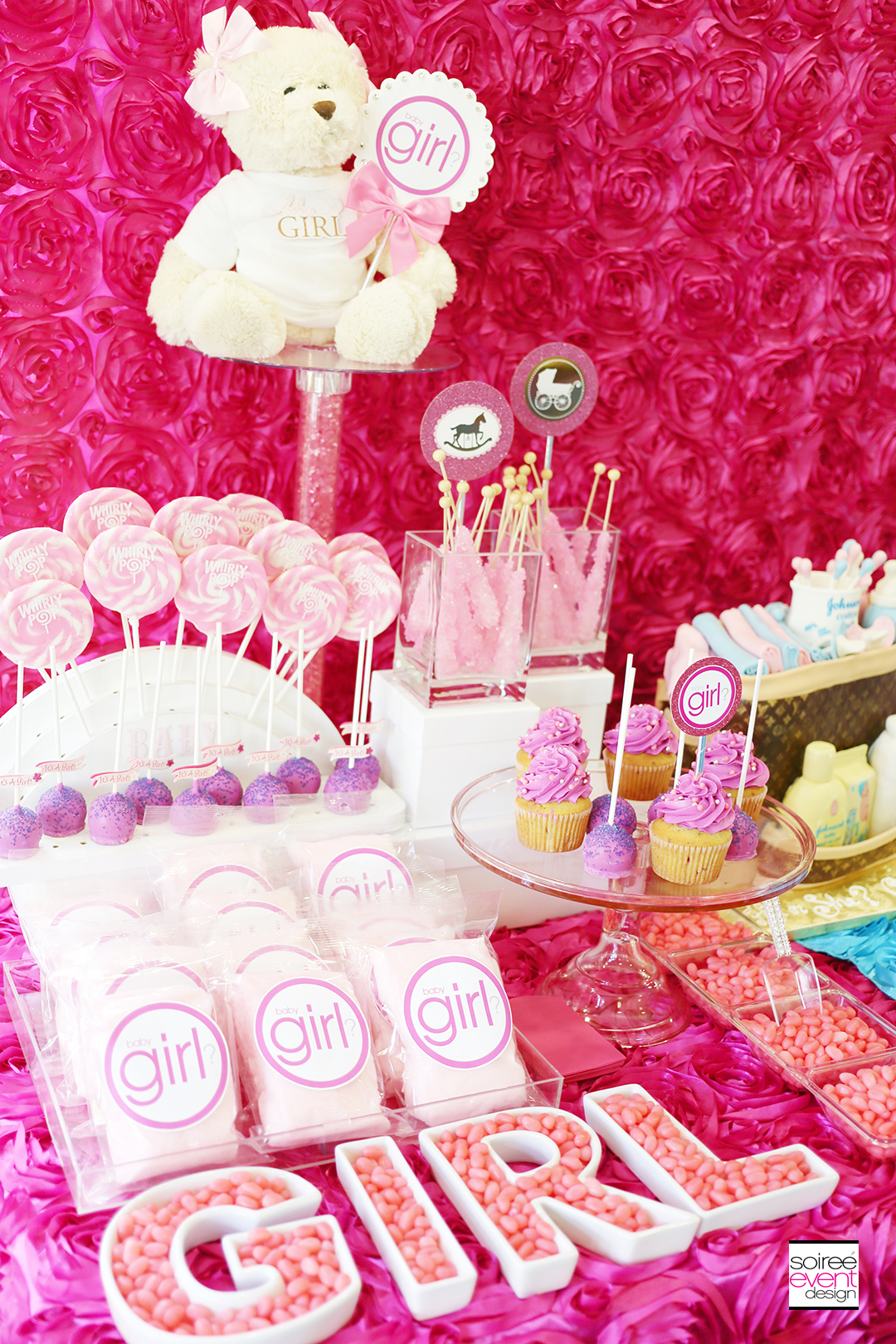 Gender Reveal Party Candy Table - Girl