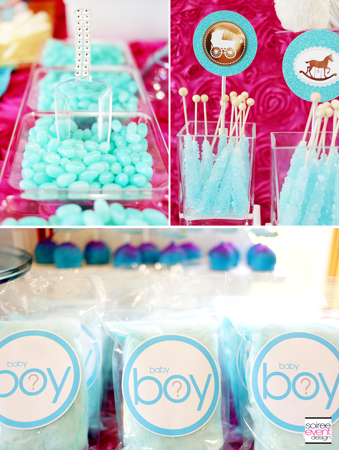 Gender Reveal Party Desserts - Blue