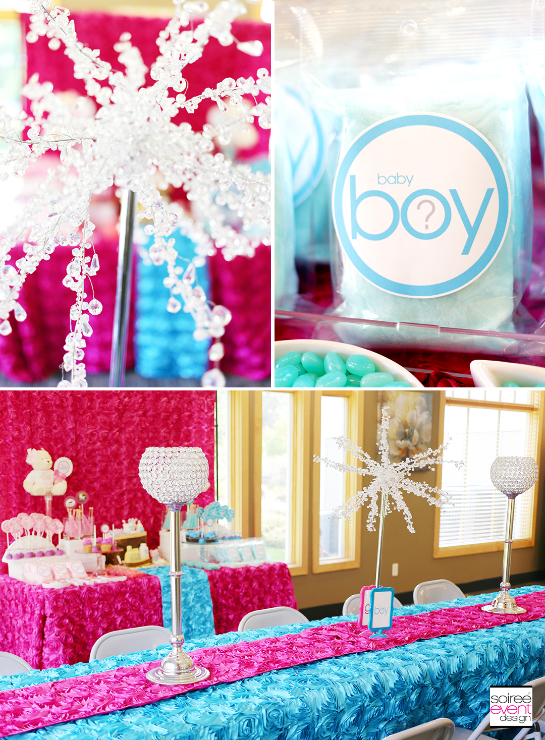 Gender Reveal Party Dining Table