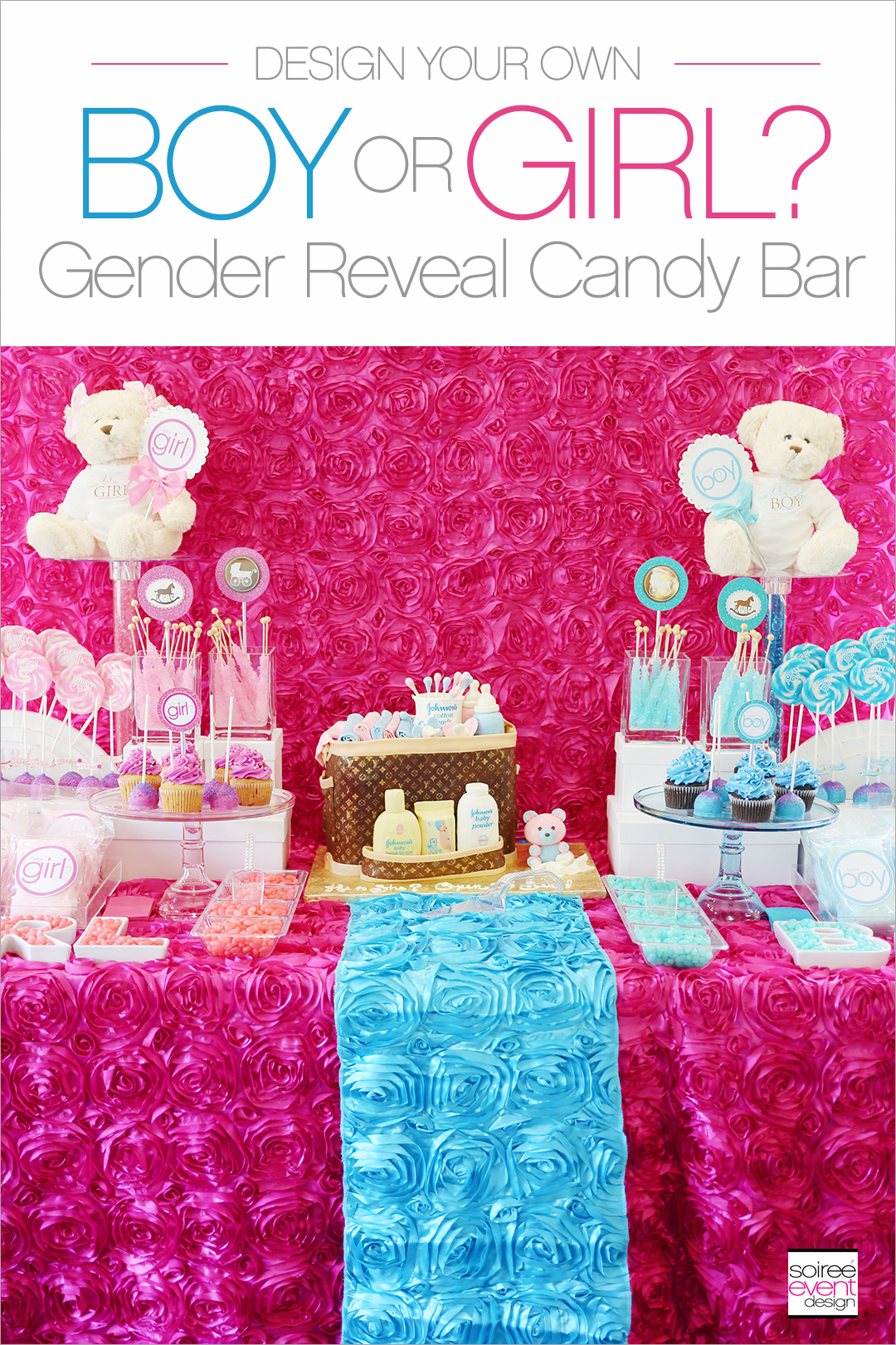How to set up a Gender Reveal Party Candy Buffet