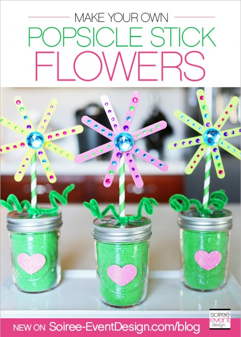 Make a Popsicle Stick Flower Garden with your Kids!