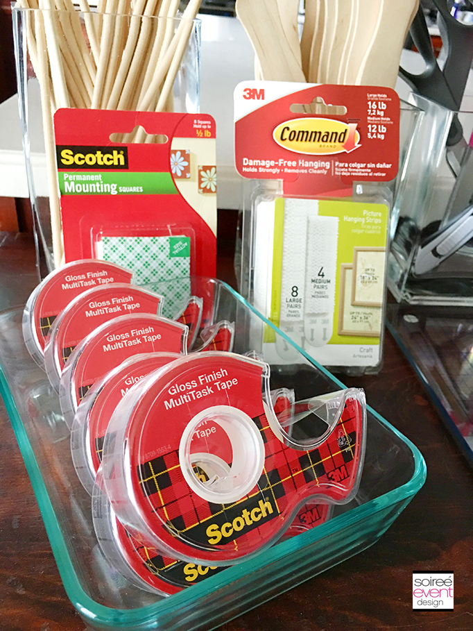 Scotch Tape and Command Strips