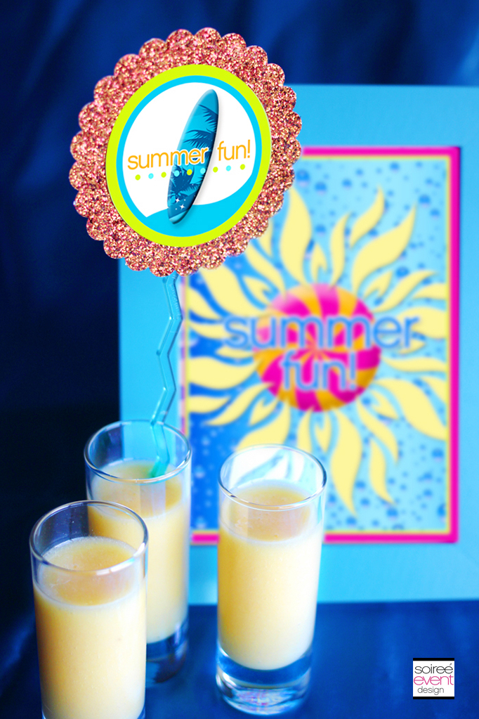 Summer Fun party smoothies