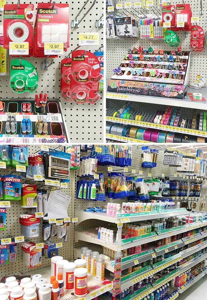 Walmart craft aisle