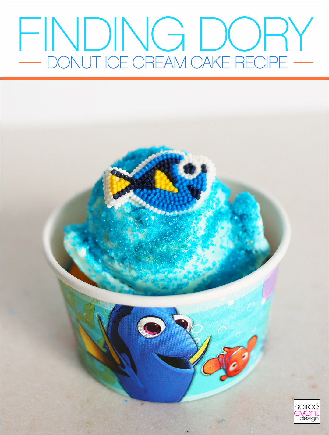 Finding Dory Donut Ice Cream Cakes