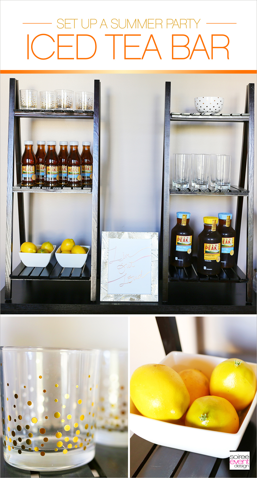 Host a Summer Dinner Party - Iced Tea Bar
