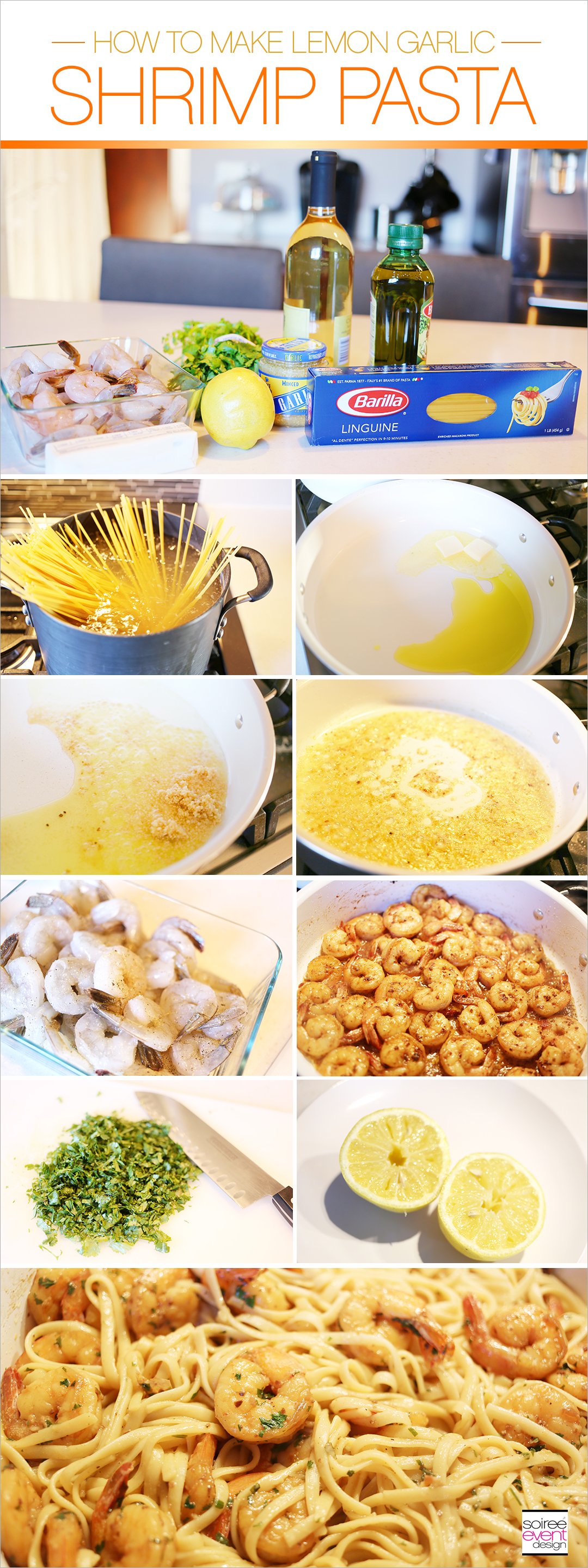 How to Make Lemon Garlic Shrimp Pasta