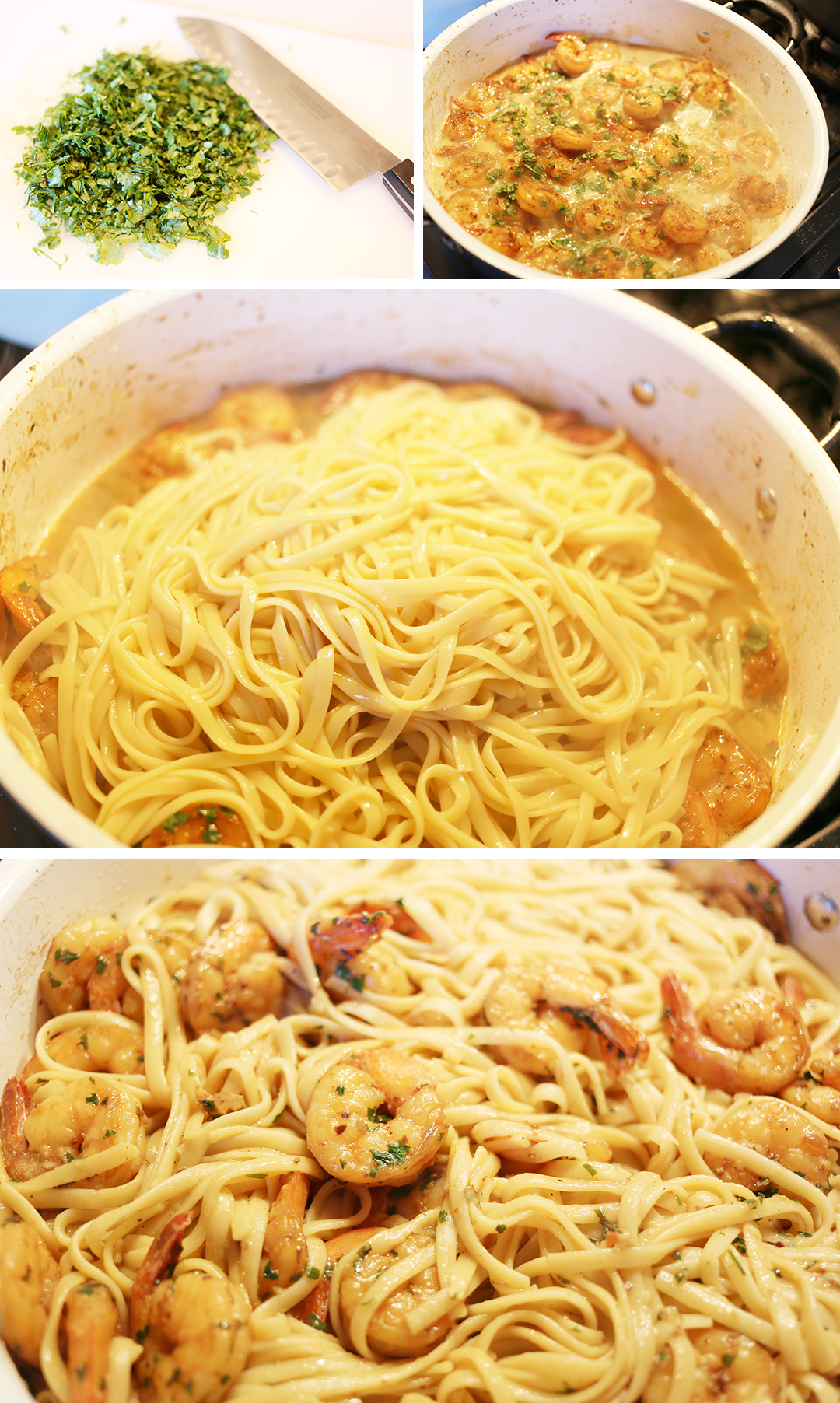 Lemon Garlic Shrimp Pasta - Step 5
