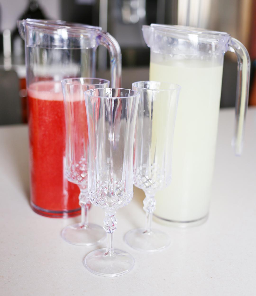 Serve Bellini Mocktails