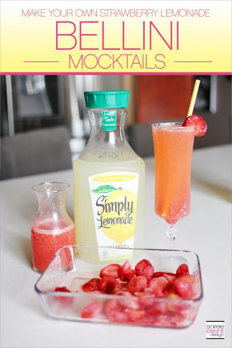 Make Your Own Strawberry Lemonade Bellini Mocktails!
