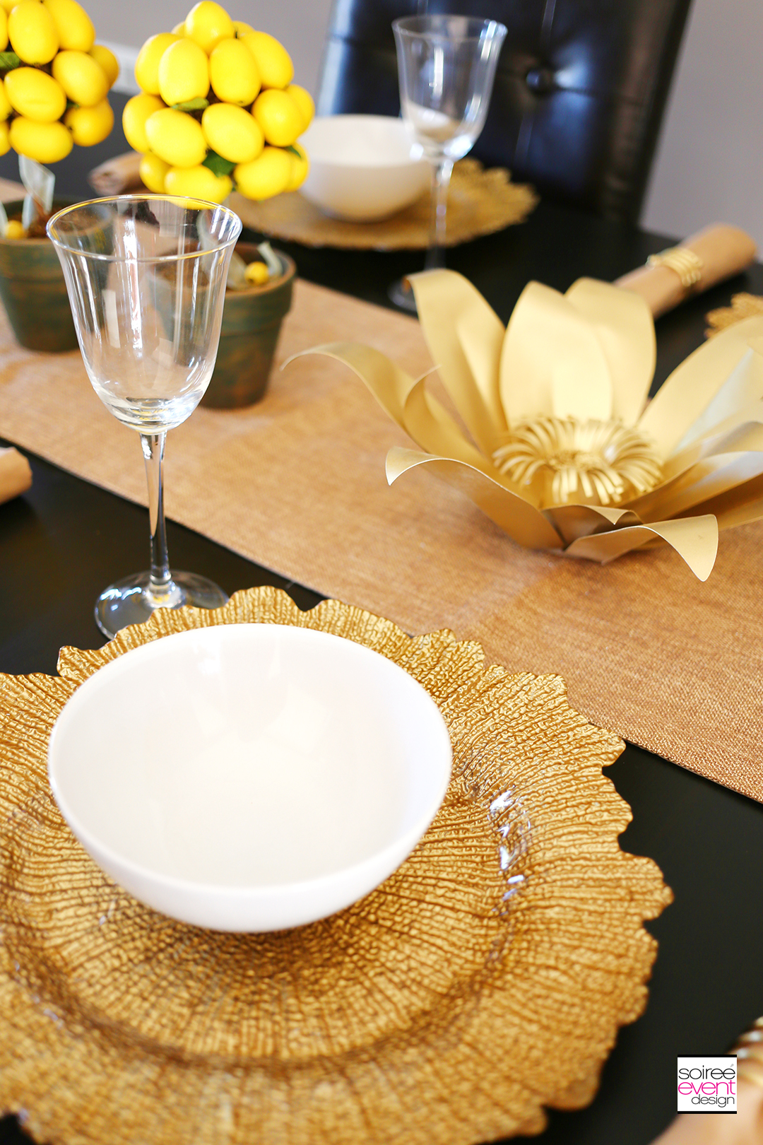 Summer Dinner Party - Gold Chargers