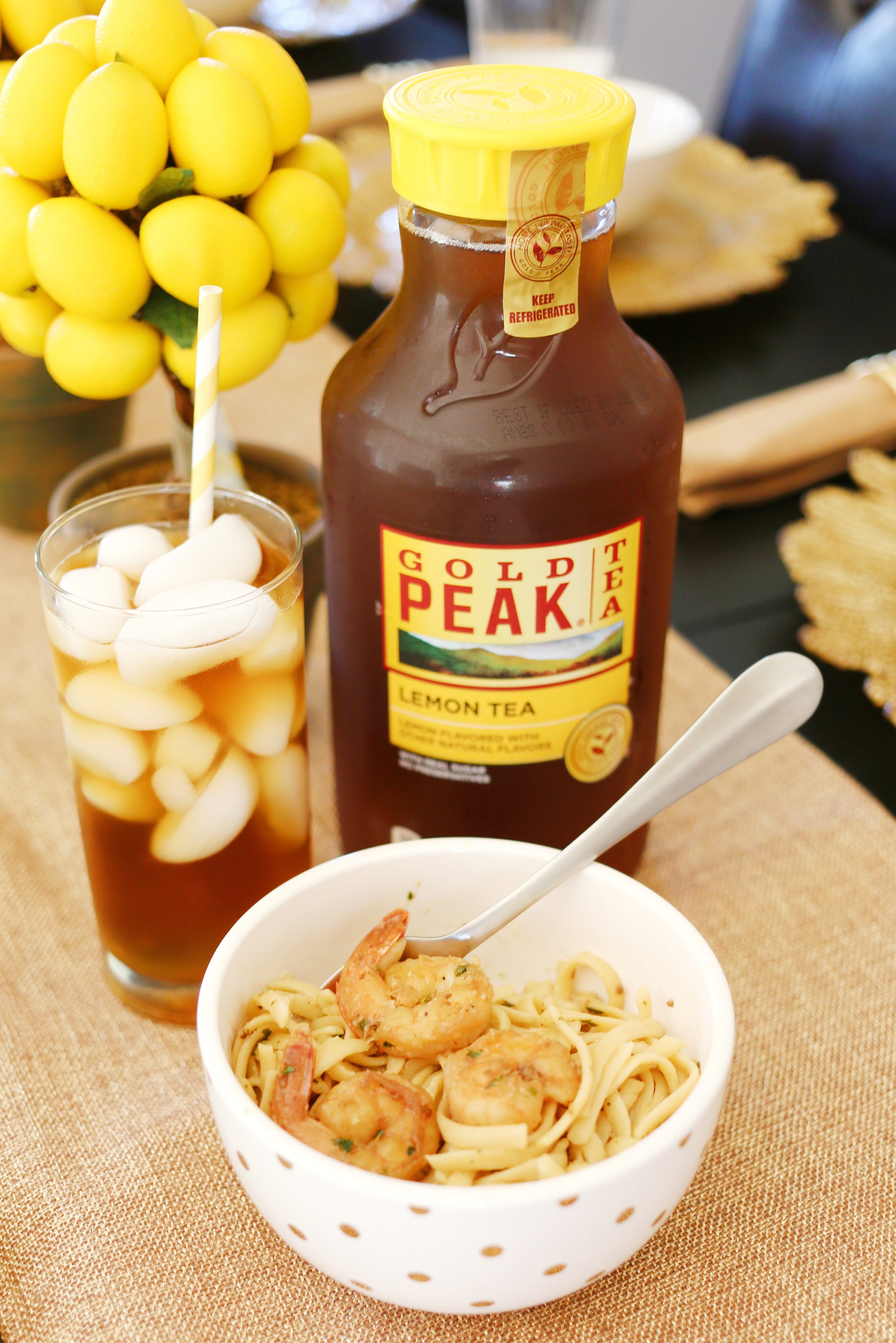 Summer Dinner Party - Pasta and Iced Tea