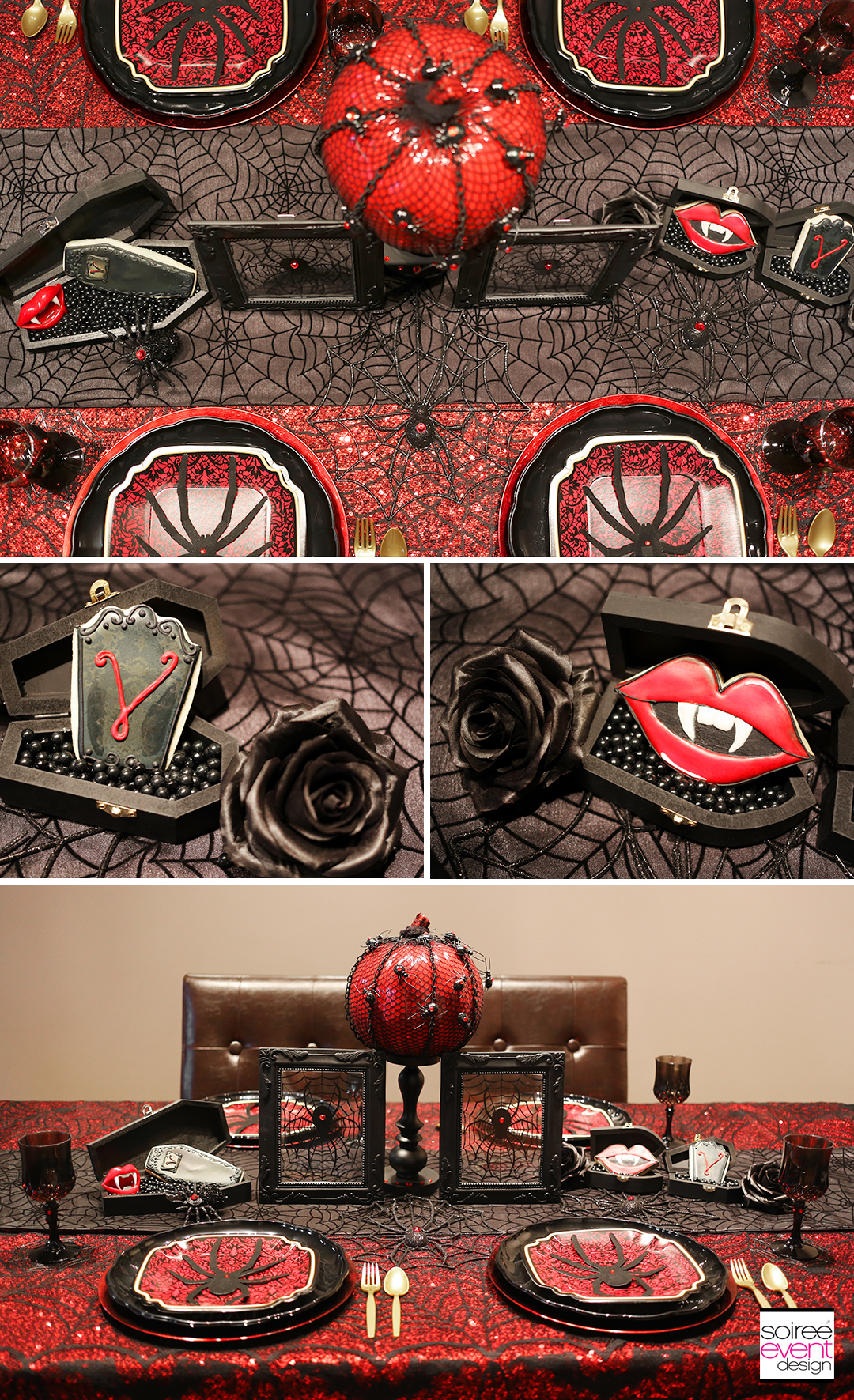 black-widow-halloween-party-table