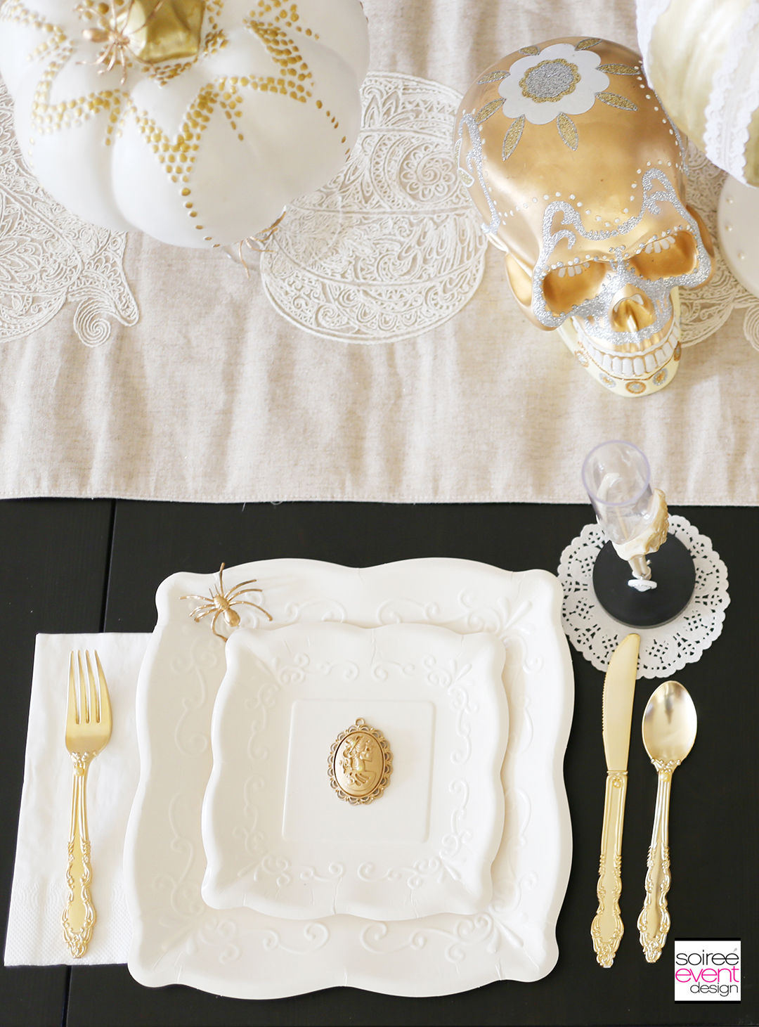 gold-and-white-halloween-party