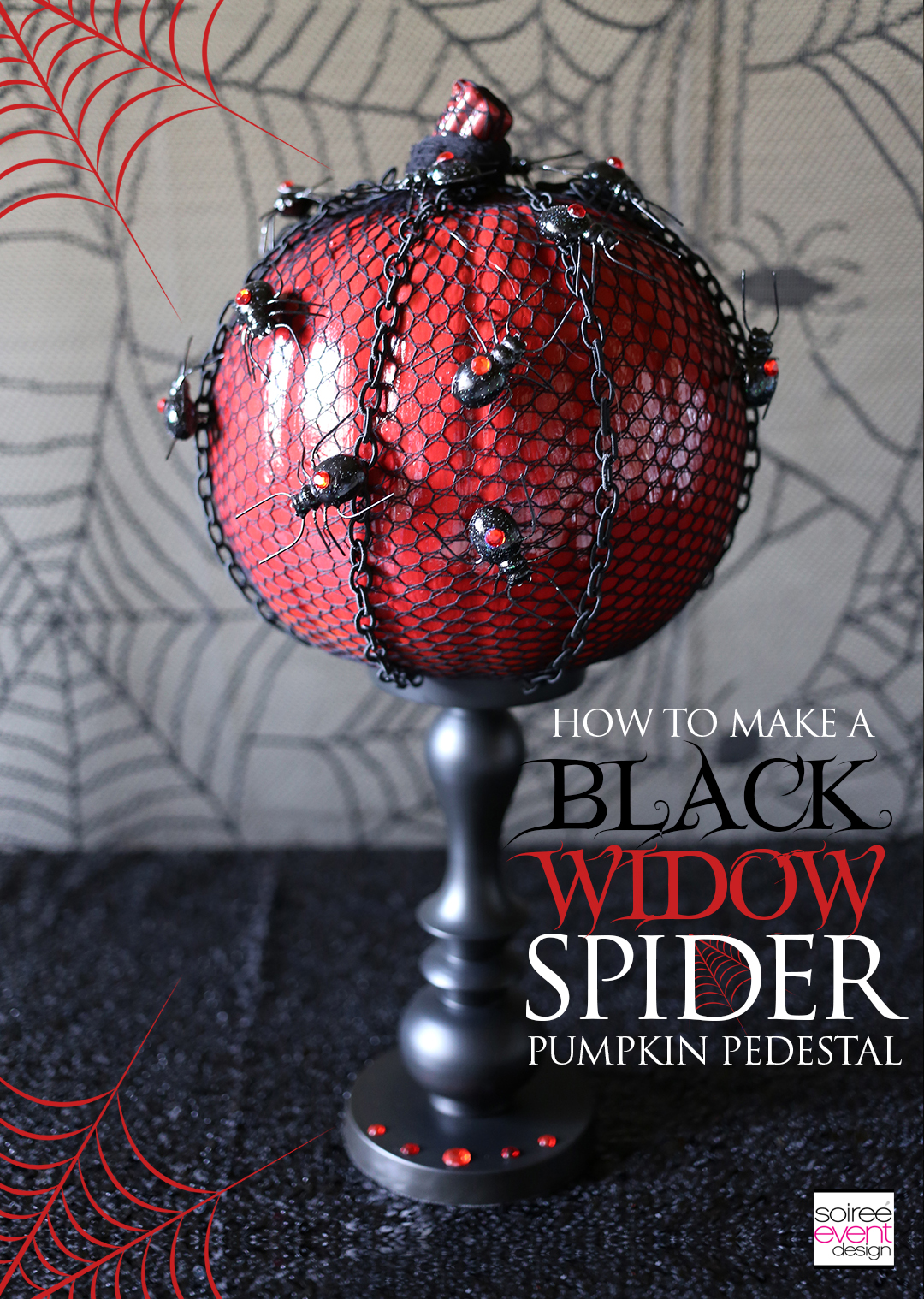 pumpkin-decorating-ideas-diy-black-widow-spider-pumpkin