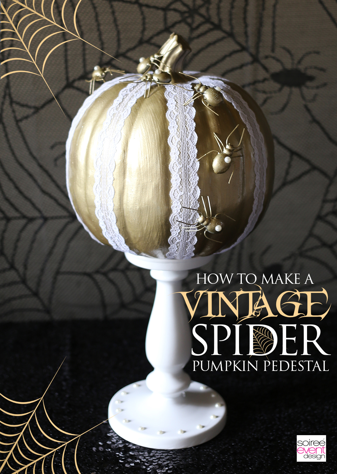 pumpkin-decorating-ideas-diy-vintage-gold-spider-pumpkin