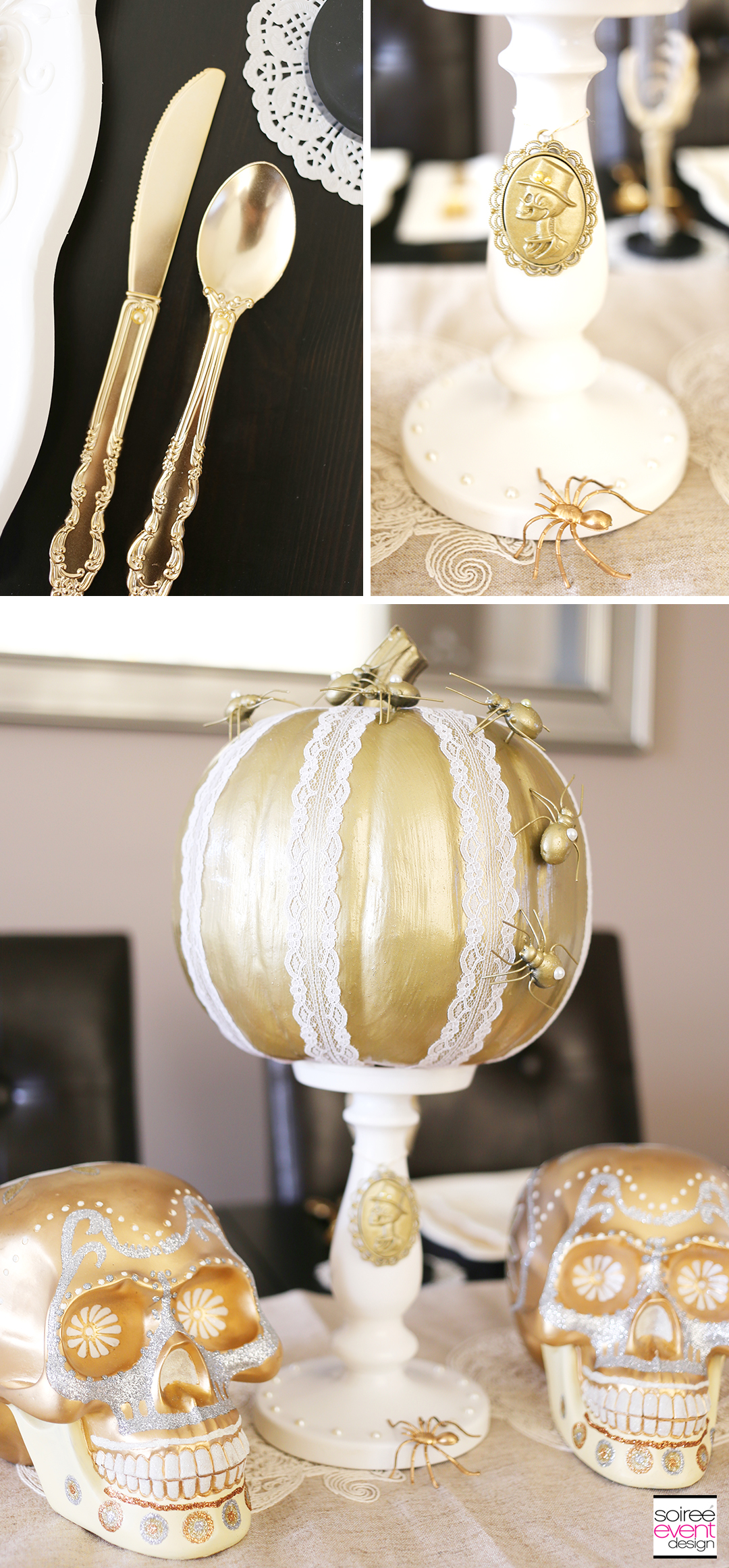 vintage-gold-and-white-halloween-decorations