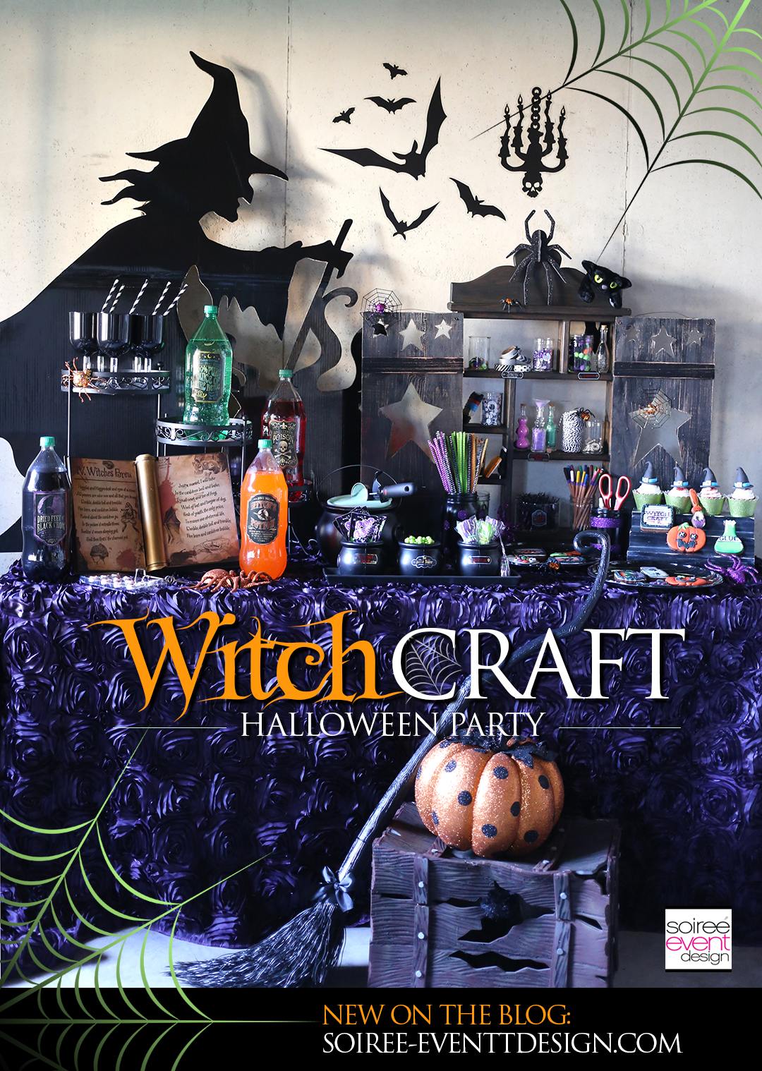 witchcraft halloween craft party soiree event design