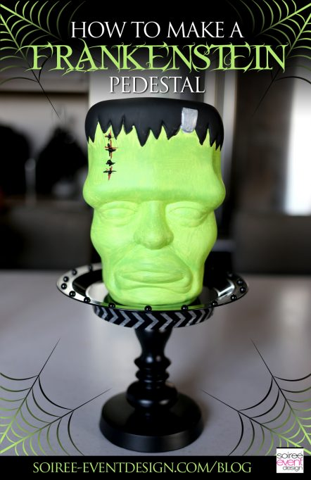 DIY Halloween Decor – How to Make a Frankenstein Pedestal