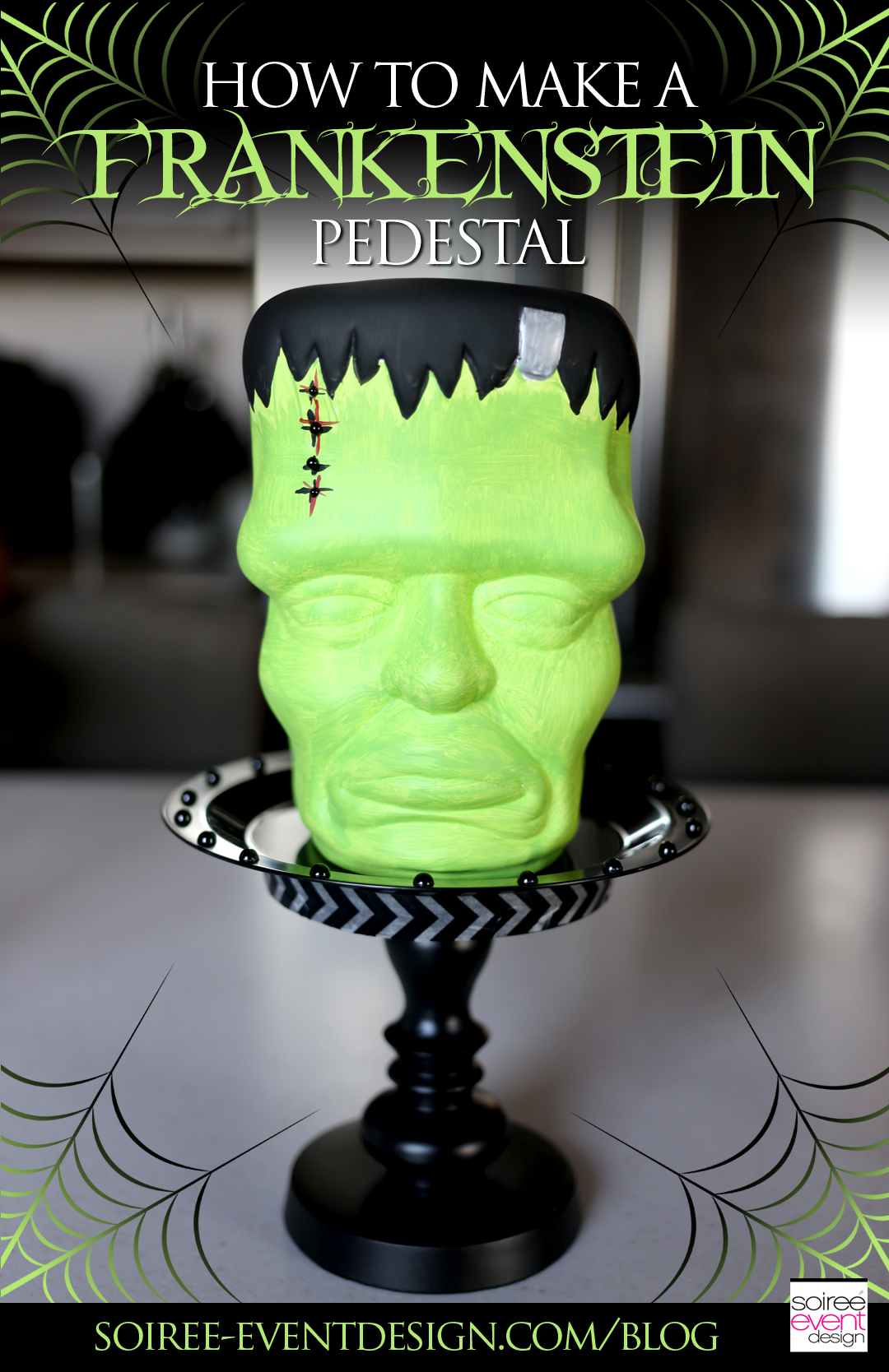 Diy Halloween Decor How To Make A Frankenstein Pedestal