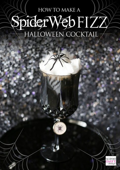 Halloween Cocktail – Spider Web FIZZ