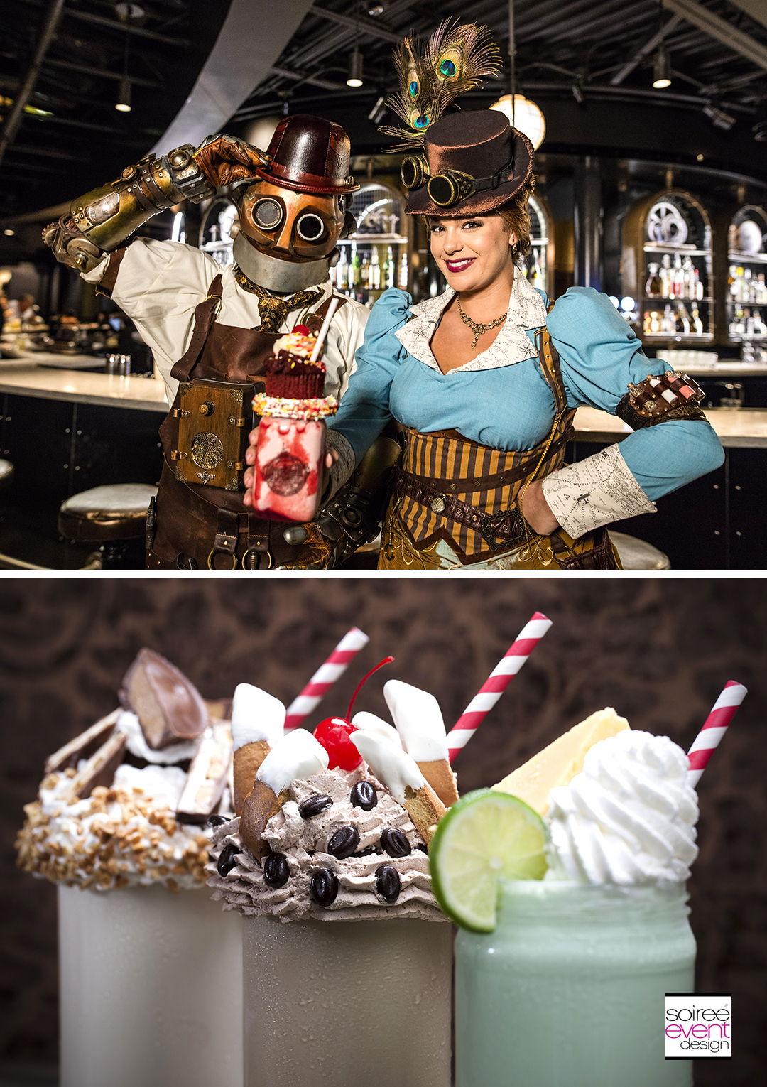 "Universal Orlando's newest immersive dining experience – The Toothsome Chocolate Emporium & Savory Feast Kitchen – is now officially open at Universal CityWalk with a diverse, radically innovative menu that also raises the art of chocolate to an entirely new level. The Toothsome Chocolate Emporium is unlike anything ever created at Universal Orlando. The 19th Century Steampunk-themed restaurant offers guests a unique dining experience that offers something for everyone. Guests can enjoy everything from twists on classic steaks, seafood and pasta entrees to gourmet burgers and sandwiches to an ""all-day brunch"" menu featuring French toast, crepes and more. Guests can also satisfy their sweet tooth with an incredible dessert selection that includes artisan milkshakes topped with delicious items such as Key Lime Pie, Red Velvet cupcake and chocolate-covered bacon – as well as a variety of sundaes and additional sweet treats that are a chocolate-lovers dream. For more information, visit www.universalorlando.com."