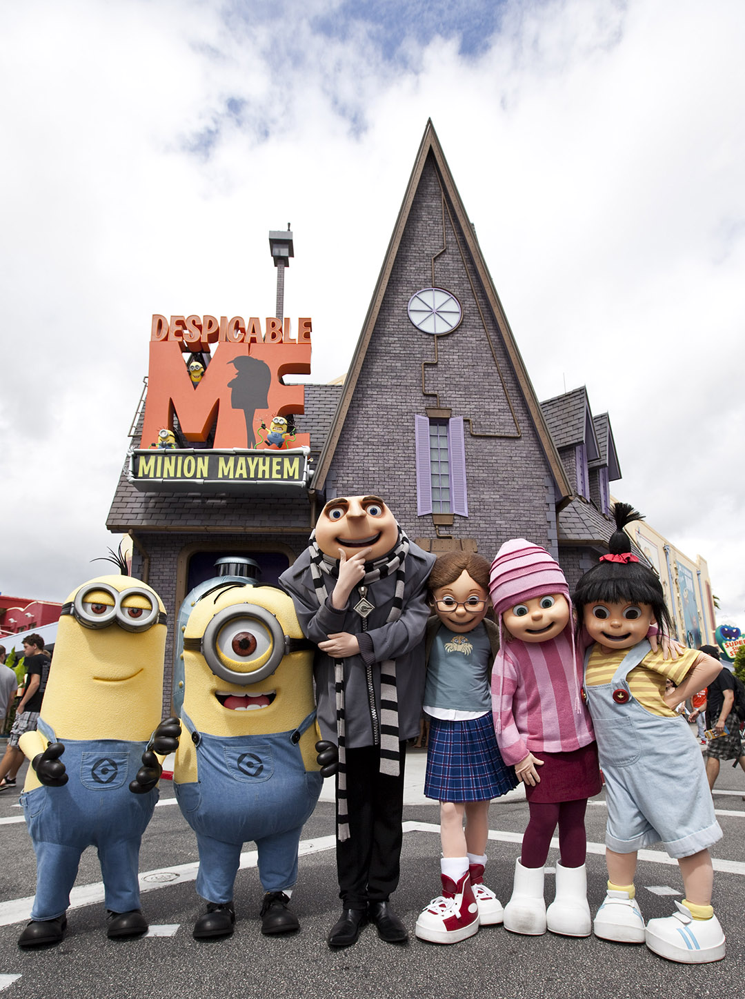One of the most hilarious and heartwarming theme park experiences ever created – Despicable Me Minion Mayhem – is now open at Universal Orlando Resort, bringing minions, mayhem and tons of laughter to Universal Studios. The brand-new ride combines the outrageous humor and memorable characters from the hit Universal Pictures and Illumination Entertainment's blockbuster film, Despicable Me, with an all-new storyline, incredible new animation and the latest 3-D technology to create a wildly-hysterical and unforgettable experience.
