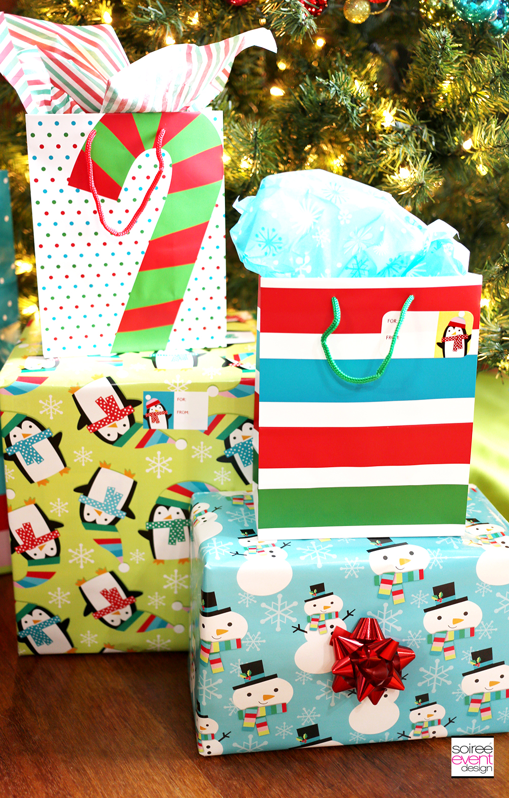 Christmas Gift Wrapping Tips - Colorful Gift Wrap