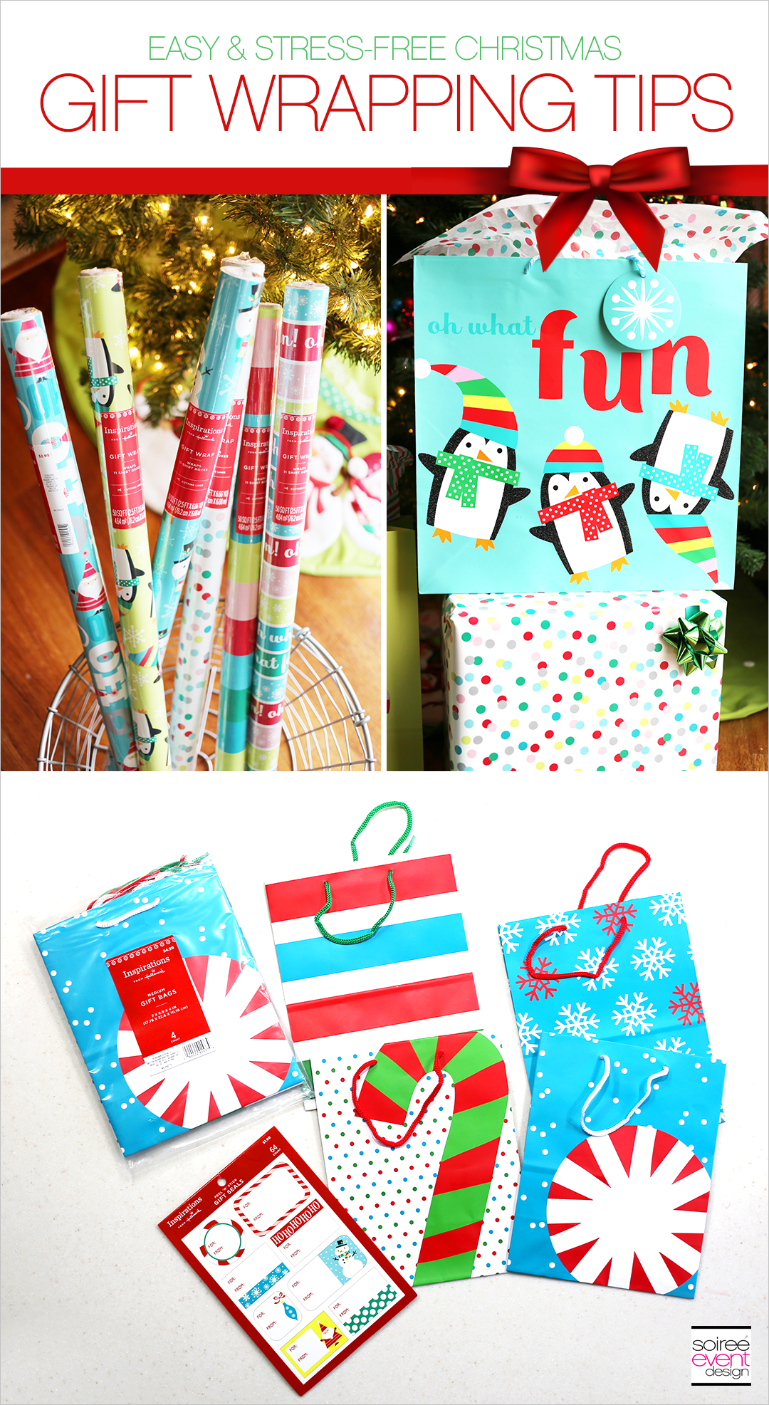 gift wrapping tips, Christmas gift wrap