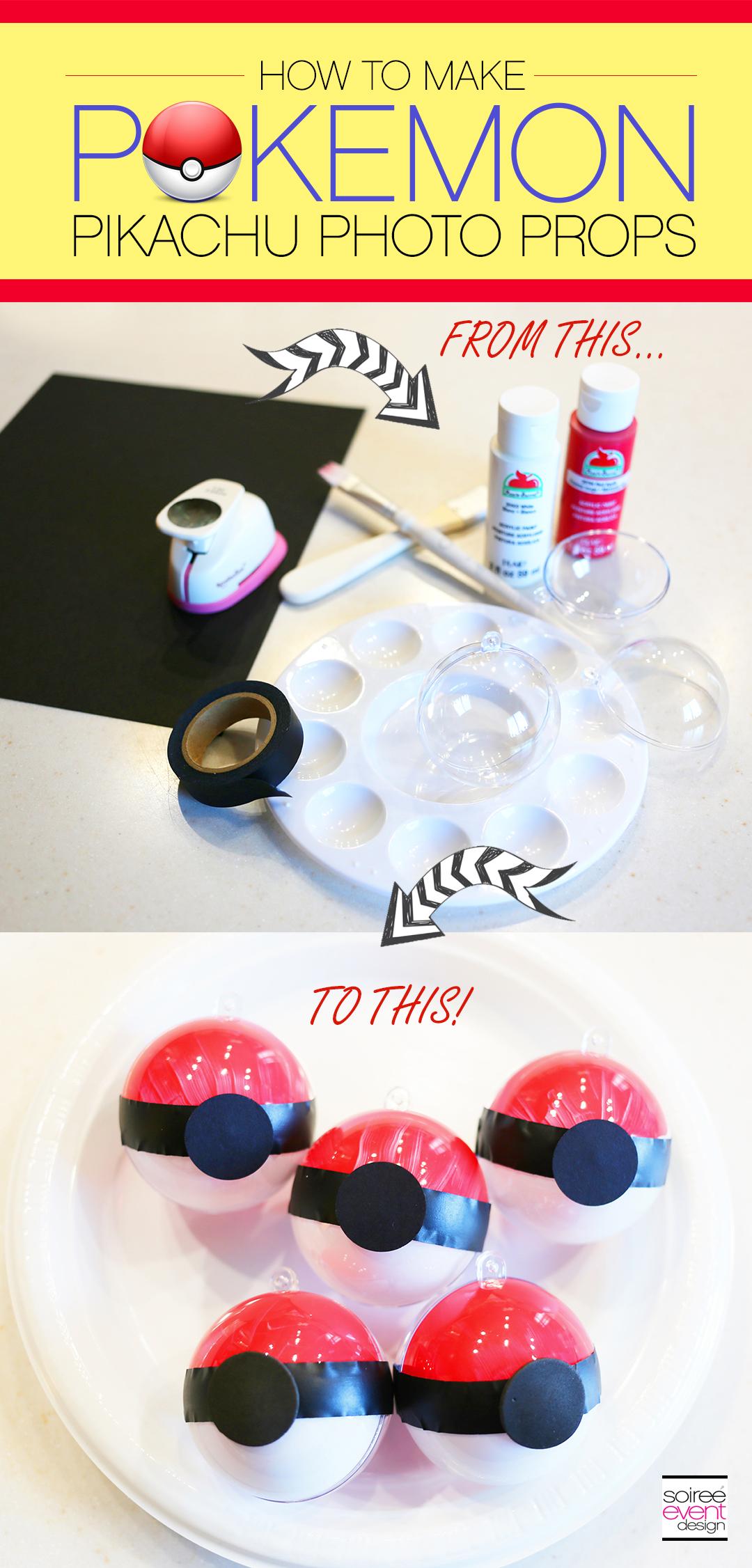Pokemon Pokeball Ornaments, DIY Pokemon Ornaments