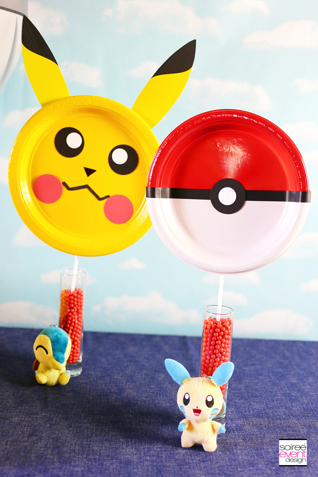 DIY Pokemon Pokeball Photo Prop Sticks