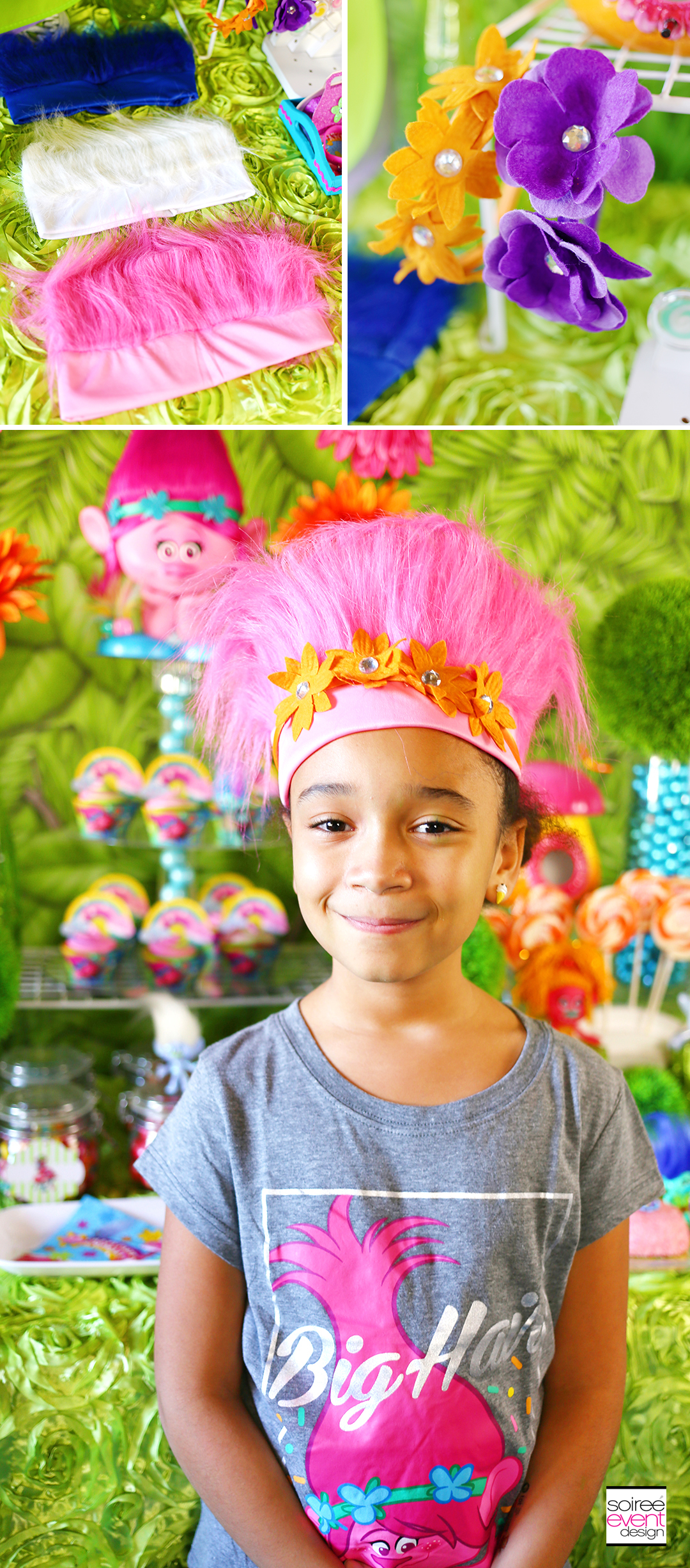 Trolls party ideas, DIY Trolls Headbands