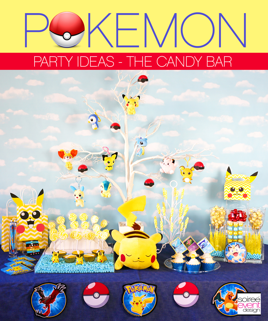 Pokemon Party, Pokemon Party Ideas, Pokemon Go Party, Pokemon Party Candy Table