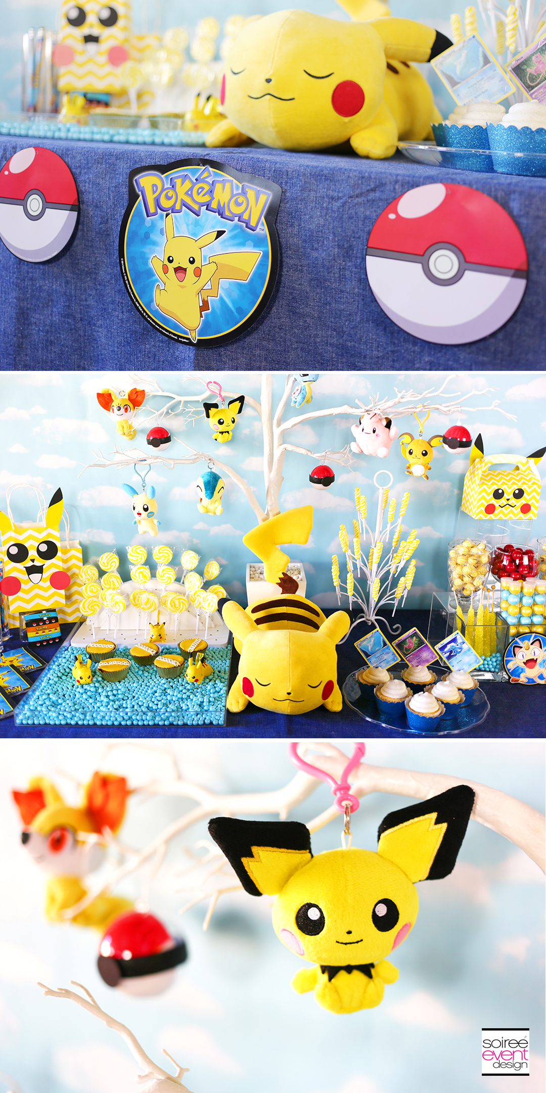 Pokemon Party Ideas, Pokemon Party Decorations, Pokemon Candy Table