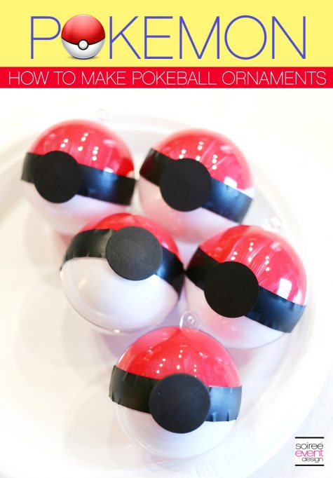 Pokemon Party Ideas – DIY Pokemon Pokeball Ornaments
