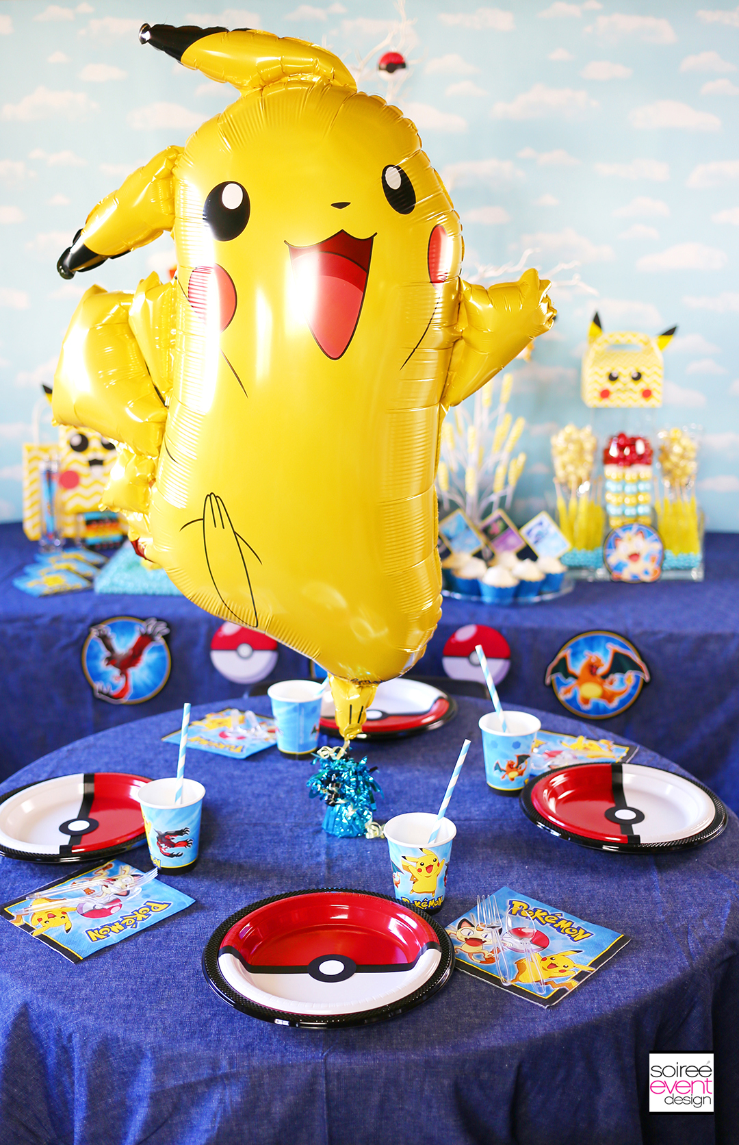 Pokemon Party Ideas Dining Table DIY Pokeball