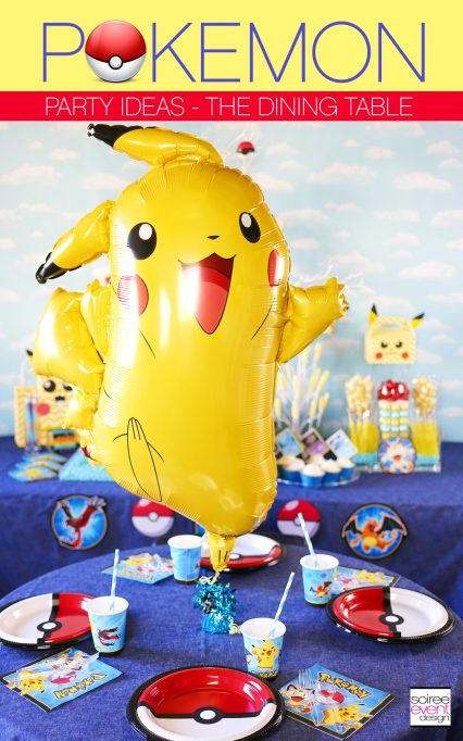 Pokemon Party Ideas – Dining Table + DIY Pokemon Pokeball Plates