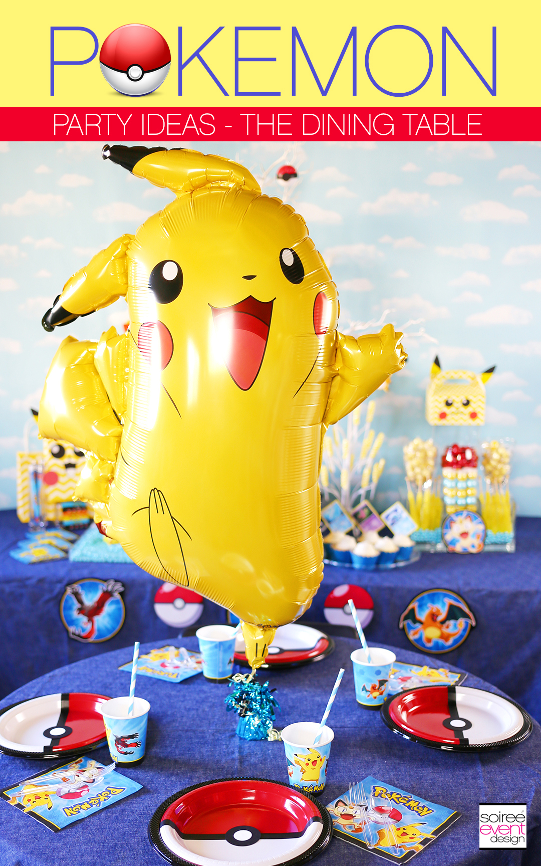 Pokemon Party Ideas, Pokemon Dining Table