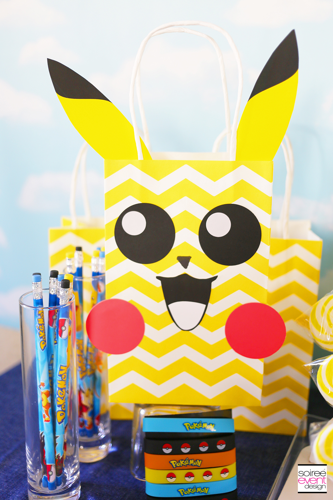 Pokemon Party Ideas, Pokemon Favor Bags