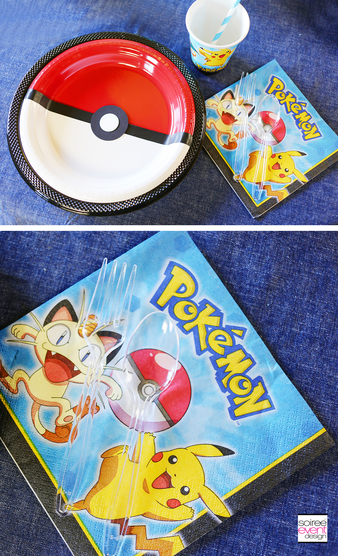 Pokemon Party Supplies and Pokeball Plates