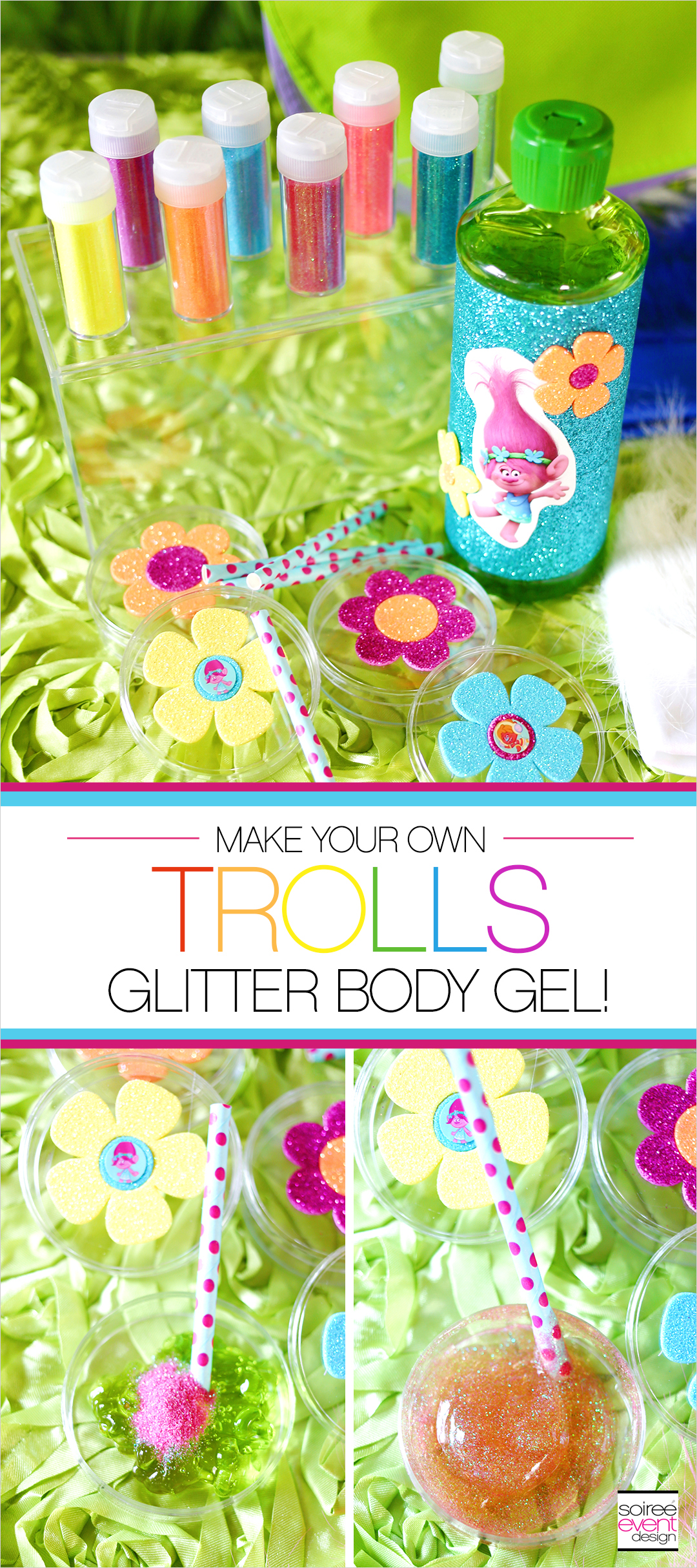 Trolls Party Ideas - DIY Trolls Glitter Body Gel